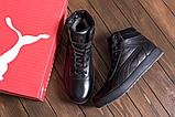 Кроссовки зимние мужские кожаные Puma SUEDE Black leather, фото 4