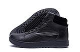 Кроссовки зимние мужские кожаные Puma SUEDE Black leather, фото 5