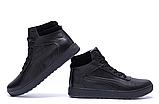 Кроссовки зимние мужские кожаные Puma SUEDE Black leather, фото 6
