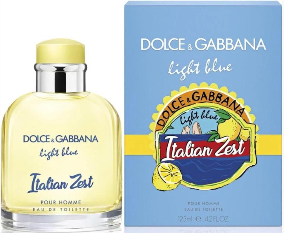 Мужская туалетная вода 2 по цене 1 Dolce&Gabbana Light Blue Pour Homme Italian Zest (125 мл ) Акция!!!