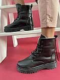 Женские ботинки кожаные зимние черные CrosSAV 2020, фото 3