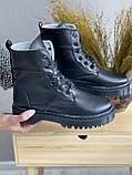 Женские ботинки кожаные зимние черные CrosSAV 2020, фото 4
