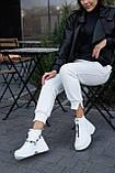 Женские ботинки кожаные зимние белые Best Vak 2020, фото 2