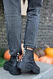 Женские ботинки кожаные зимние чёрные Best Vak 2020, фото 2