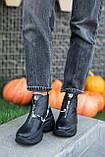 Женские ботинки кожаные зимние чёрные Best Vak 2020, фото 3