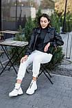 Женские ботинки кожаные зимние чёрные Best Vak 2020, фото 8