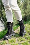 Стильные женские ботинки кожаные зимние чёрные Best Vak 2021, фото 2