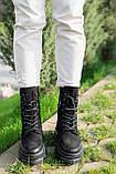 Стильные женские ботинки кожаные зимние чёрные Best Vak 2021, фото 3