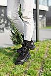 Стильные женские ботинки кожаные зимние чёрные Best Vak 2021, фото 4