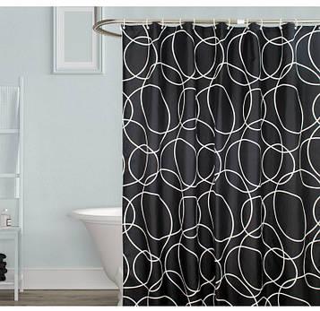 Чорно-біла шторка для ванної Black & white (SV)