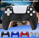 Силиконовый чехол Bevigac для геймпада джойстика DualSense PS5, фото 10