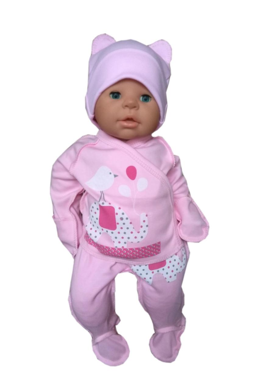 Комплект для новорожденного 3-х предмет. (интерлок)