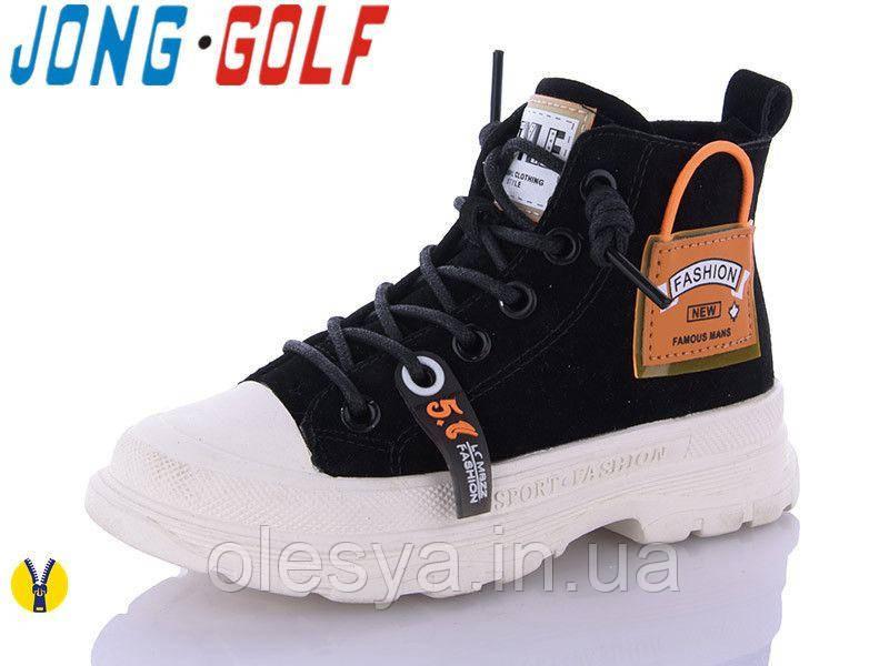 Ботинки модные демисезонные для девочек Jong Golf 30194 размеры 27-31