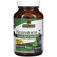 "Комплекс трав для работы мозга Nature's Answer ""Brainstorm 2"" 450 мг (90 капсул)"