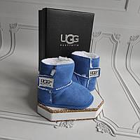 Синие детские пинетки, угги, Ugg, фото 1