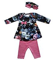 Комплект для новорожденного 3-х предмет. с повязкой (интерлок), фото 1