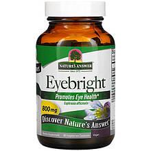 "Очанка Nature's Answer ""Eyebright"" для улучшения зрения, 800 мг (90 капсул)"