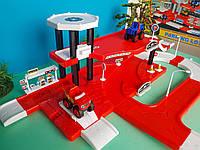 Игровой Гараж с заправкой для машинок Вспыш двухэтажный с двумя машинками, фото 1