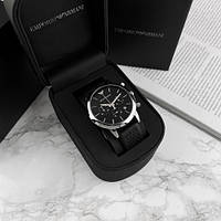 EMPORIO ARMANI CHRONOGRAPH AR903 40MM QUARTZ BLACK SILVER. Replica, фото 1