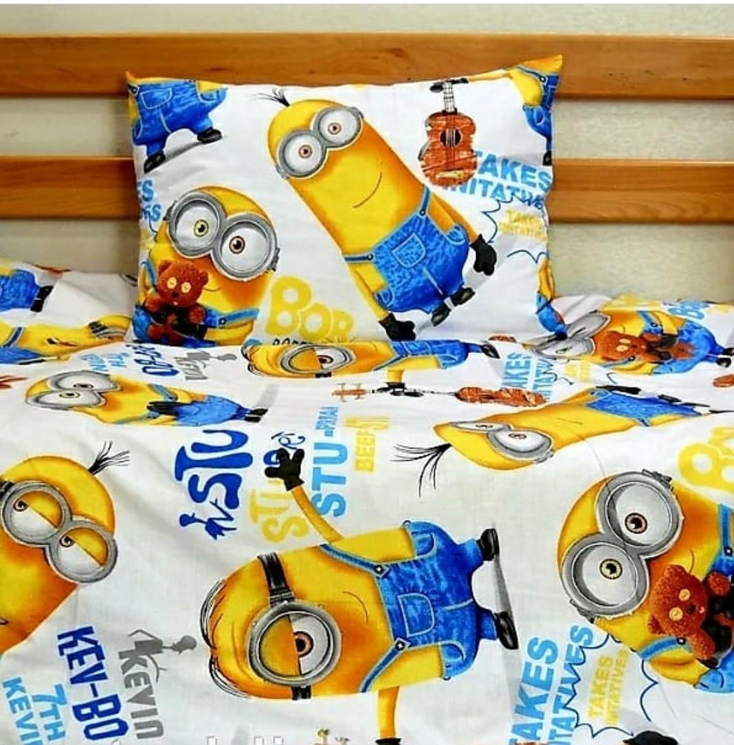 Детский набор постельного белья Миньоны Полуторный