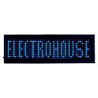 Электронный Led бейдж, синий