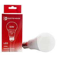 LED лампа E27 / 4100K / 15W 1350Lm /220° A65