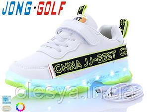Кроссовки подростковые с подсветкой подошвы и кабелем USB JongGolf C10156 Размеры 31-36