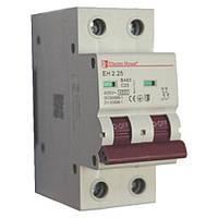 Автоматический выключатель 2P 25A 6kA 230-400V IP20
