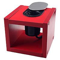 Компактная мебельная розетка 1х16A, 1хUSB 2,4A IP40