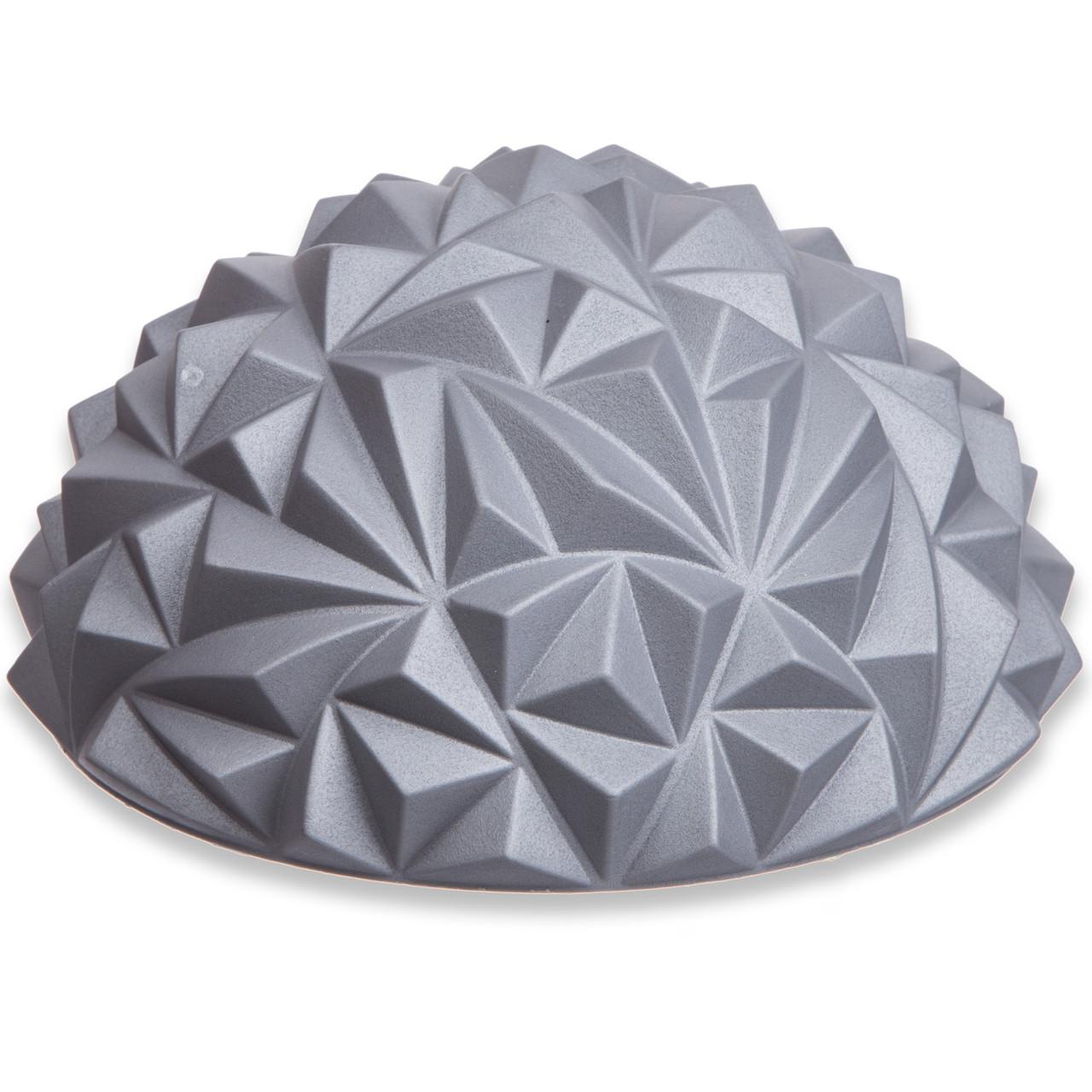 Масажна півсфера балансувальна (діаметр - 16 см, висота - 8 см) - 1 шт, колір - сірий