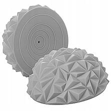 Масажна півсфера балансувальна (діаметр - 16 см, висота - 8 см) - 1 шт, колір - сірий, фото 3