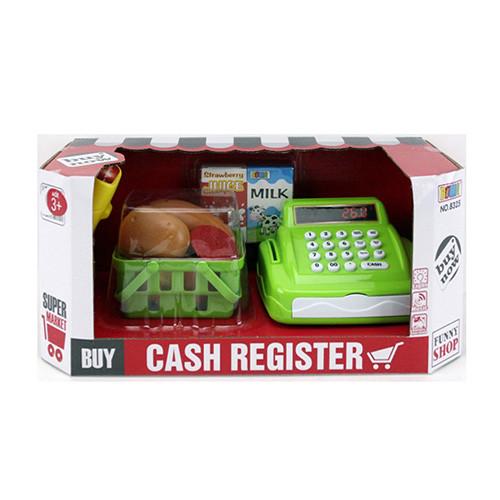 Касовий апарат 8325 сканер, кошик, продукти, гроші, муз., світло, бат., кор., 35-15,5-15 см