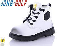 Ботинки демисезонные белые для девочек Jong Golf Размеры 31- 35