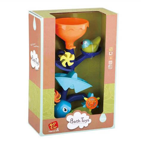 Іграшка TL953 для купання, водоспад, пташка-бризкалка, кор., 23,5-35-12,5 см, фото 2