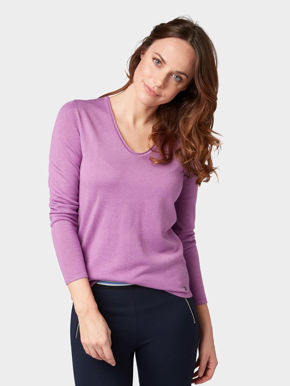 Пуловер Tom Tailor 1008009 L Фиолетовый