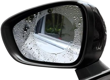 Защитная пленка Антидождь на боковые зеркала автомобиля 95х95 мм, фото 2