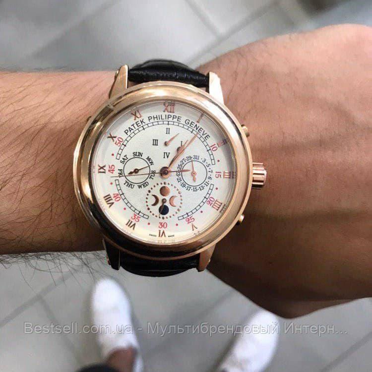 Часы мужские наручные механические с автоподзаводом Patek Philippe Grand Complications 5002 Moon Реплика ААА