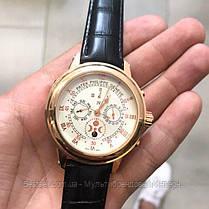 Часы мужские наручные механические с автоподзаводом Patek Philippe Grand Complications 5002 Moon Реплика ААА, фото 3