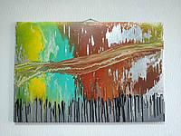 "Картина Magik art ""Життя"" акрилові фарби 100% ручна робота 60 х 90 см"