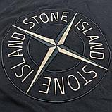 Мужская футболка Stone Island CK1640 черная, фото 3