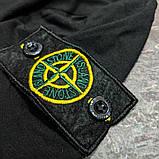 Мужская футболка Stone Island CK1640 черная, фото 2