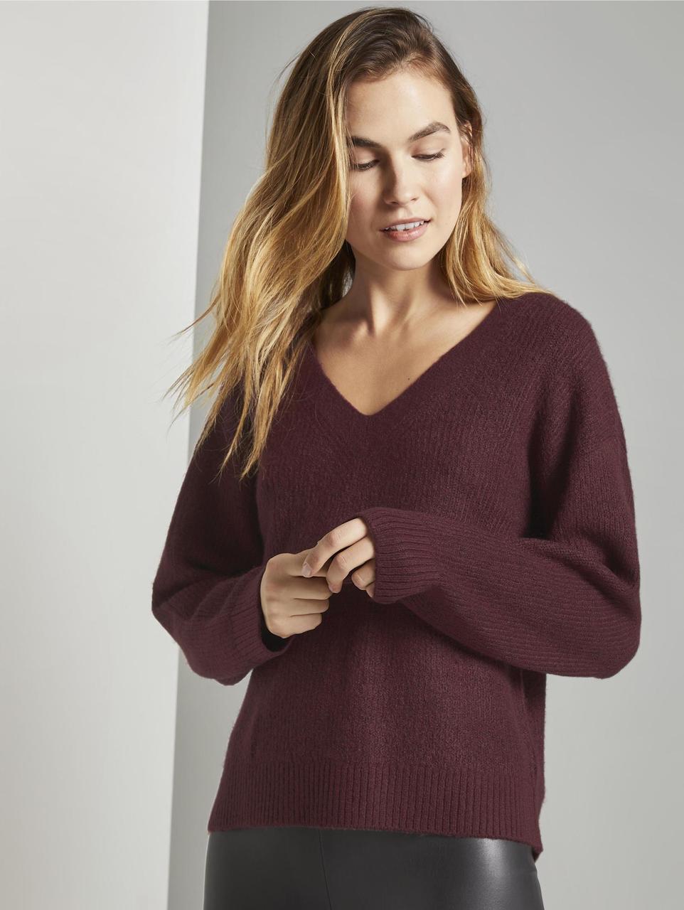 Пуловер Tom Tailor 1015445 3XL Бордовый