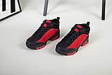 Ботинки для мальчика из нубука красные с вставками черного цвета, фото 5