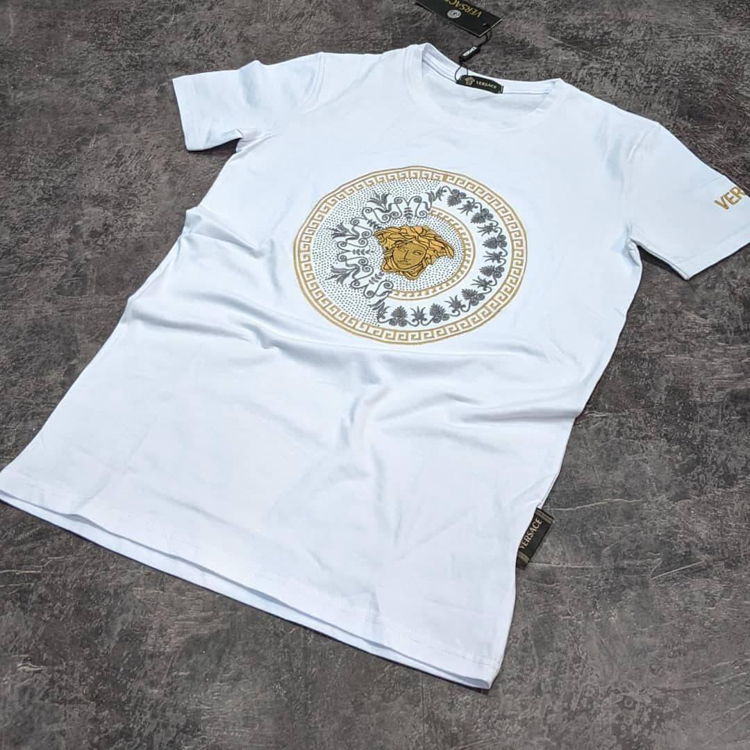 Мужская футболка Versace CK1642 белая