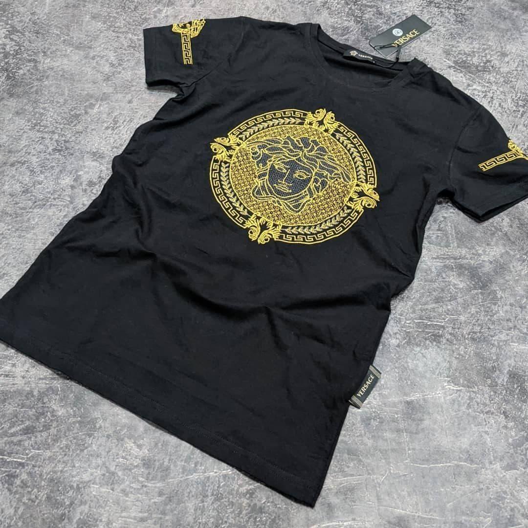 Мужская футболка Versace CK1645 черная