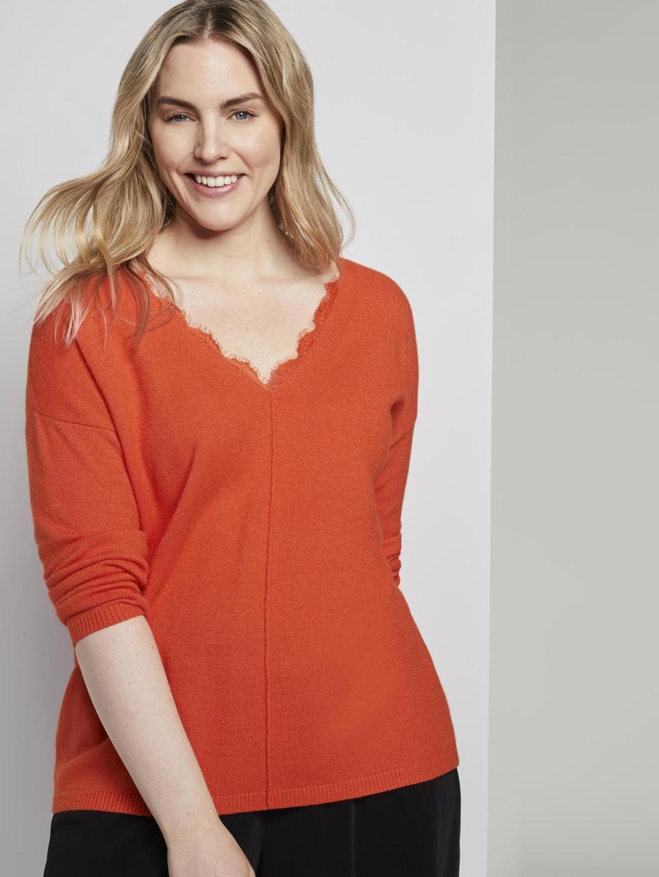 Пуловер Tom Tailor 1015853 XXL Оранжевый