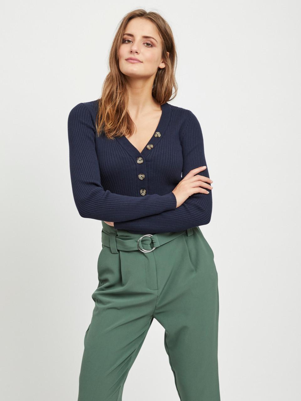 Пуловер Vila 14050849 L Синий
