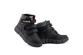 Подростковые ботинки кожаные зимние черные Monster Fil (39)