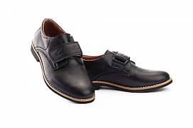 Подростковые туфли кожаные весна/осень черные Yuves М5L (39)