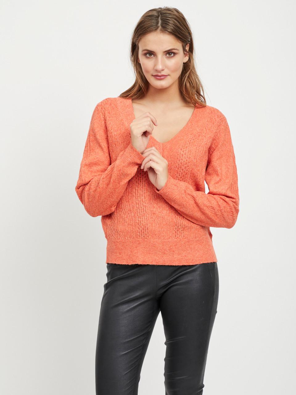 Пуловер Vila 14050020 L Оранжевый